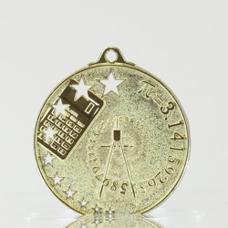 Star Maths Medal Gold 50mm