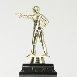 Pistol Shooting figurine on base 165mm