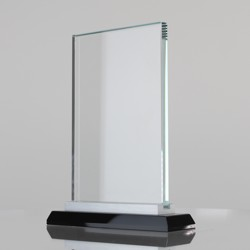 Crystal Rectangle Clear/Black (3 sizes)