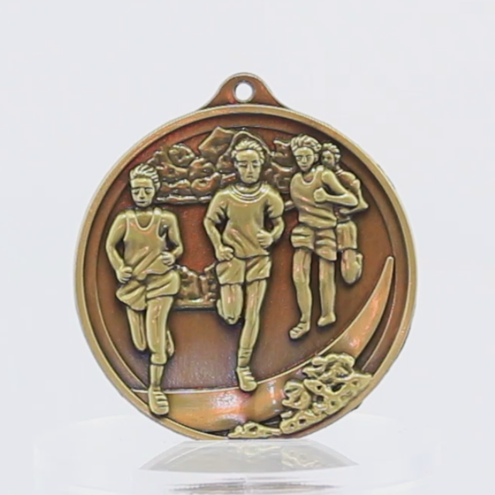 Embossed Cross-Country Male Medal 50mm
