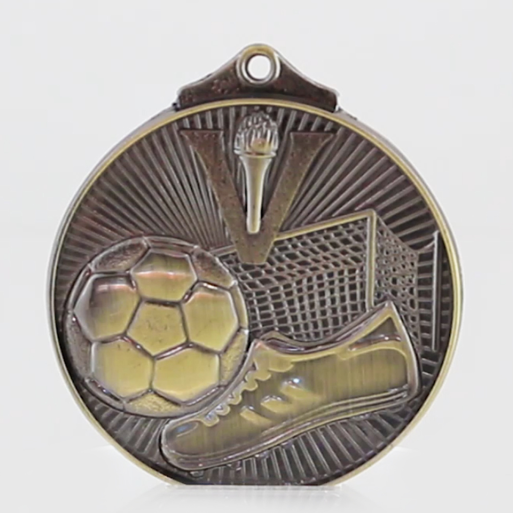 Embossed Soccer Victory Medal 52mm