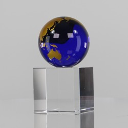 Gold & Blue World Globe