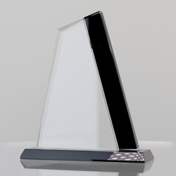 Black & Clear Glass Sail