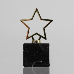 Metal Star Figurine on Marble Base 125mm