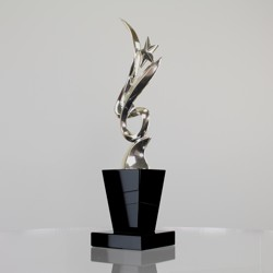 Silver Figure with Star 320mm