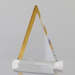 Golden Acrylic Pyramid