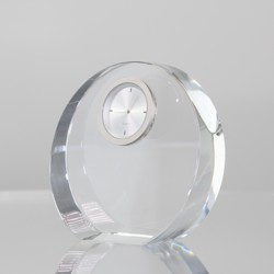 Rikaro Optical Crystal Round Clock 95mm