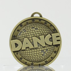 Antique Gold Disco Dance Medal 50mm